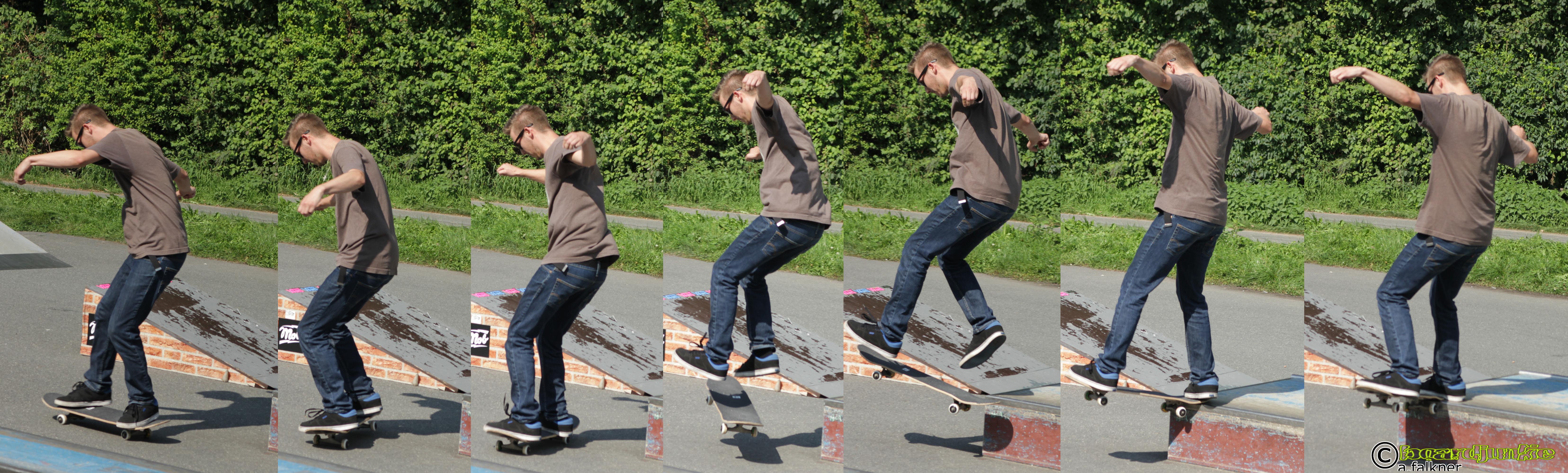 Aufnahme beim 10. Goller Skatecontest
