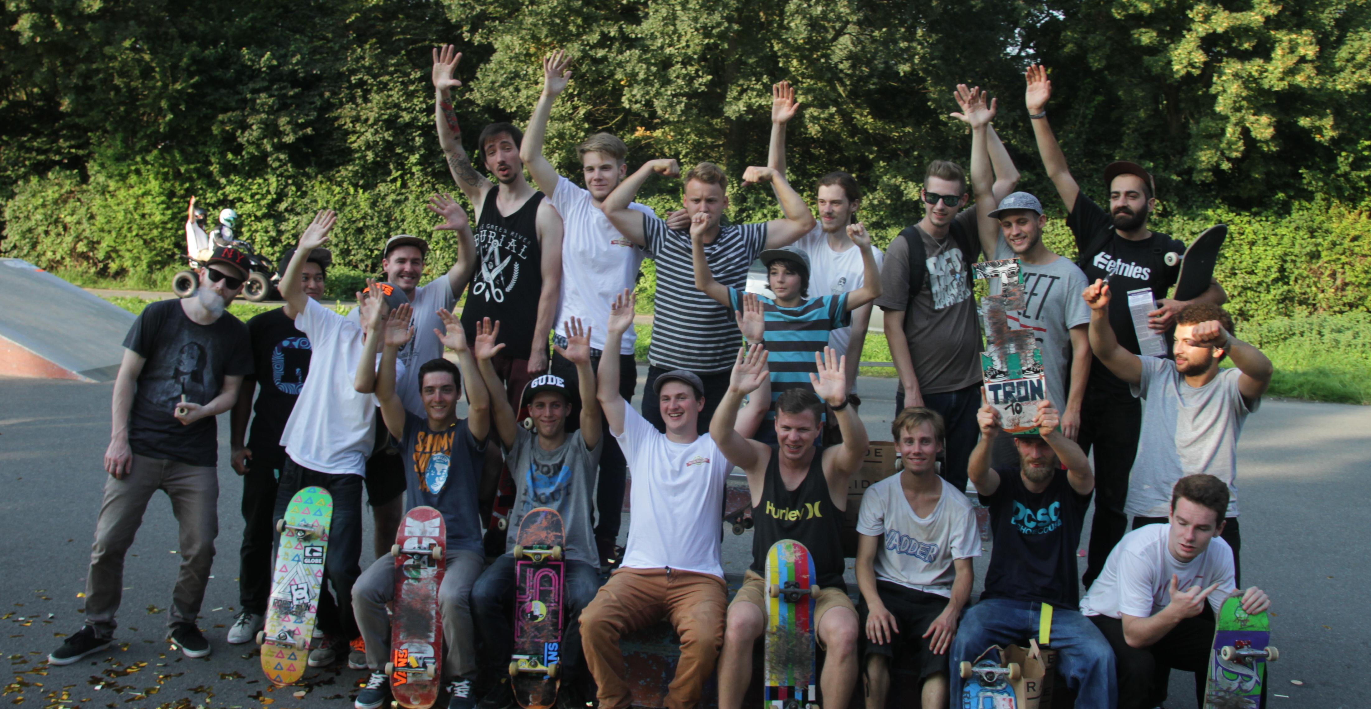 Gruppenfoto 10. Goller Skatecontest